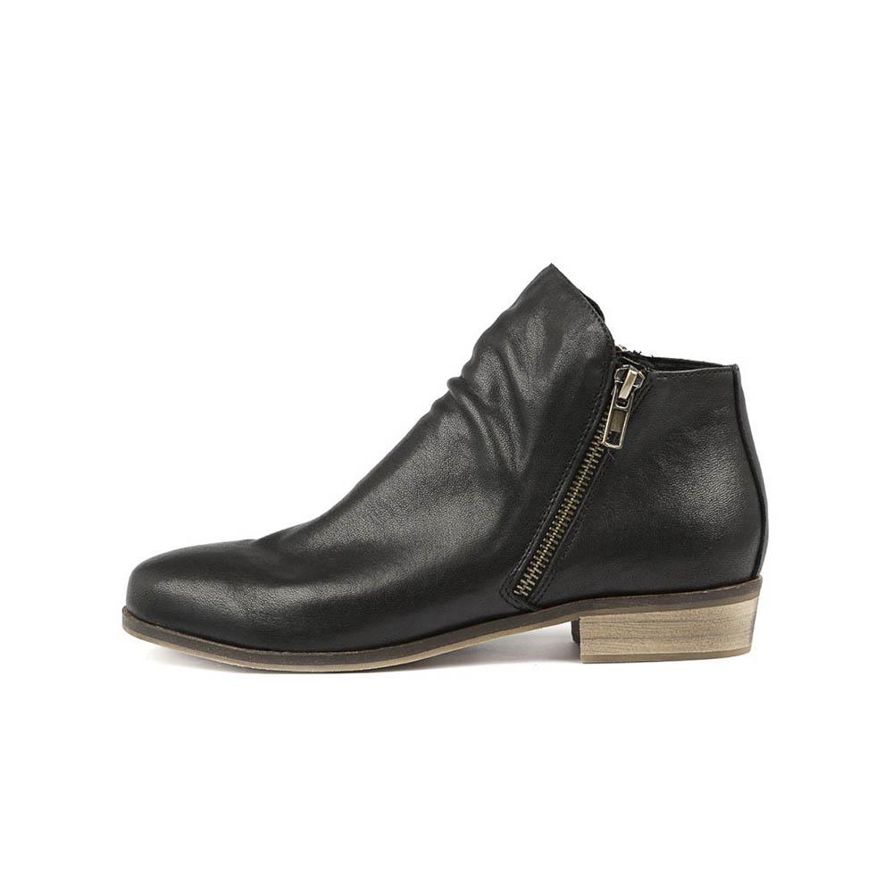 Split Black Leather